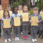 Sean, Gareth, Niamh, Sarah, Anabelle, Erin, Kaelum & Aryan are awarded their Stars of the Week Certificates